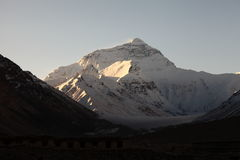 Lever de soleil au support Everest photo stock