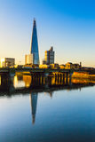 Lever de soleil au tesson, Londres Photos libres de droits