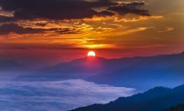 Lever de soleil Autriche Images libres de droits