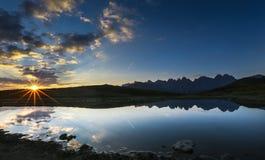 Lever de soleil Autriche Photos libres de droits