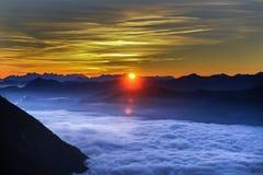 Lever de soleil Autriche Photo stock
