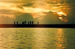 Lever de soleil aux îles de Bantayan Photographie stock