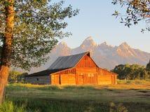 Lever de soleil chez Teton Images libres de droits