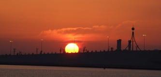 Lever de soleil Bahrain Photographie stock libre de droits