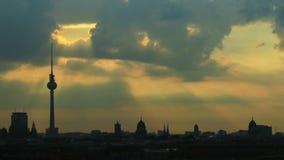 Lever de soleil Berlin banque de vidéos