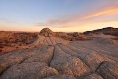 Lever de soleil blanc de poche, falaises de Paria Canyon-Vermilion Photo stock