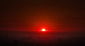 Lever de soleil brillant Photo libre de droits