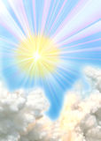 Lever de soleil brillant Photos libres de droits