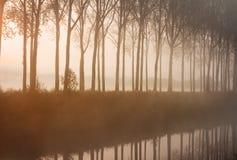 Lever de soleil brumeux Image libre de droits
