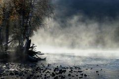 Lever de soleil brumeux de matin Image libre de droits