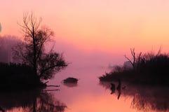 Lever de soleil brumeux (humeur) photographie stock libre de droits