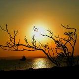 Lever de soleil Burgas photo libre de droits
