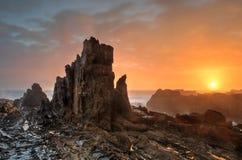 Lever de soleil de côte sud de Bermagui photos libres de droits