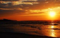 Lever de soleil côtier Photos libres de droits