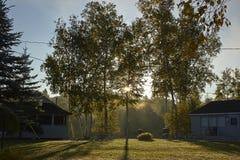 Lever de soleil canadien Photographie stock