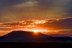 Lever de soleil central de l'Orégon Photographie stock