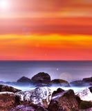 Lever de soleil chaud Photographie stock libre de droits