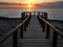 Lever de soleil chez Al Marneef Image stock