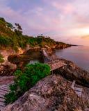 Lever de soleil chez Apparalang Bulukumba Photographie stock libre de droits