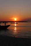 Lever de soleil chez Gili Trawangan Image stock