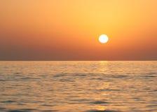 Lever de soleil chez l'Océan Indien/Foudjairah EAU Photos libres de droits