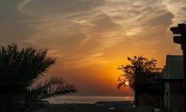 Lever de soleil chez l'Océan Indien/Foudjairah EAU Photo stock