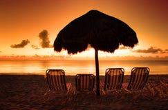 Lever de soleil chez les Caraïbe Image stock