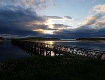 Lever de soleil chez Lossiemouth Images stock