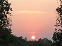 Lever de soleil chez Phu Rua, Loei, Tha?lande images stock