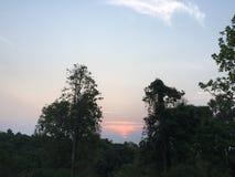 Lever de soleil chez Phu Rua, Loei, Tha?lande photographie stock