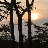 Lever de soleil chez Phu Rua, Loei, Tha?lande photos stock