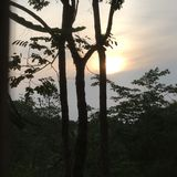 Lever de soleil chez Phu Rua, Loei, Tha?lande image stock