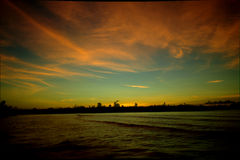 Lever de soleil chez Port Vila Photographie stock libre de droits