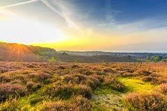 Lever de soleil chez Posbank images stock