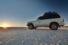 Lever de soleil chez Salar de Uyuni bolivia Photos libres de droits
