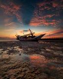 lever de soleil chez Tanjung Bira Bulukumba Photographie stock