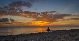 Lever de soleil chez Texel Photo stock