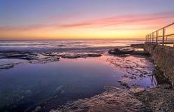 Lever de soleil chez Wombarra Photographie stock libre de droits