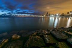 Lever de soleil coloré par deux Chicago Photo stock