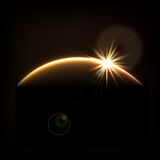 Lever de soleil cosmique abstrait Photographie stock libre de droits