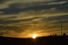 Lever de soleil/coucher du soleil Photos stock