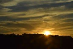 Lever de soleil/coucher du soleil Images libres de droits