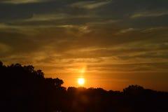 Lever de soleil/coucher du soleil Images stock