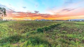 Lever de soleil crépusculaire de temps Photographie stock