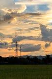 Lever de soleil crépusculaire de temps Photos libres de droits