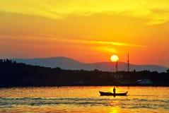 lever de soleil cramoisi Photographie stock libre de droits