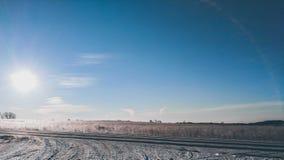 Lever de soleil croquant d'hiver photo stock