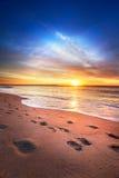 Lever de soleil d'été du Maine images libres de droits