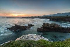 Lever de soleil d'été en Galicie Photo stock