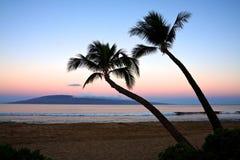 Lever de soleil d'île Photographie stock libre de droits